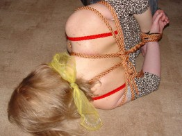 Slutty Czech Girlfriend tied up and gagged at Home