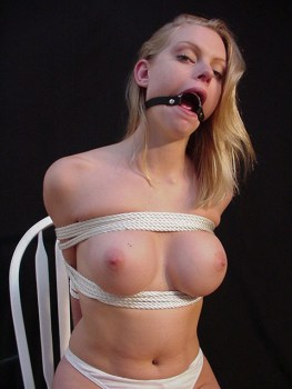 Submissive Wives get horny in tight Bondage