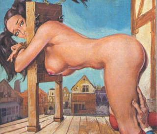 naked women in stocks and pillories