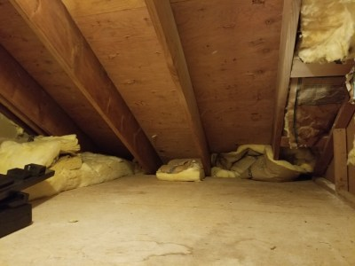 Interior of the small attic space in my house.