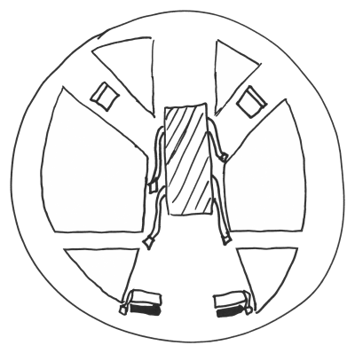 Illustration of the Catherine wheel at DCDungeon