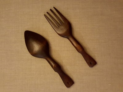 Tiki fork and spoon