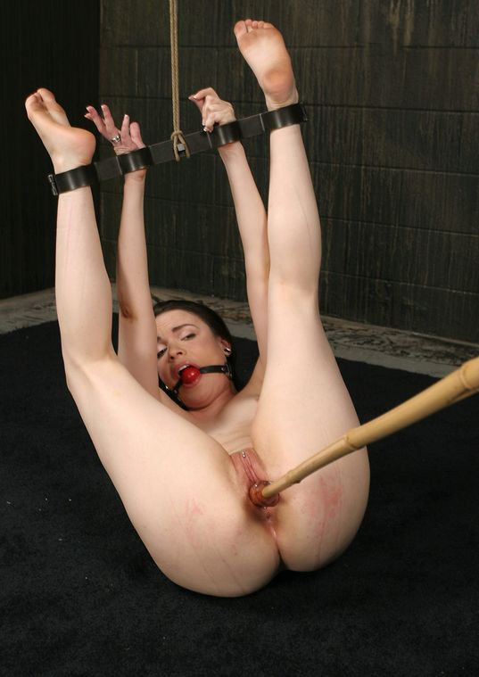 Awesome Young Slave Gagged, Restrained and Penetrated in the Dungeon