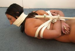 Beautiful Brunette Gets Bound and Gagged in Basement for Discipline
