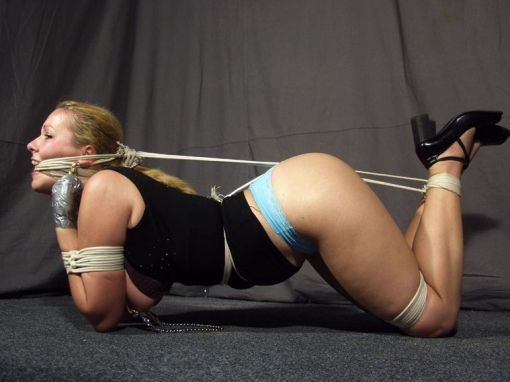 Hot Blonde Gets Gagged, Tightly Bound and Tortured for Discipline