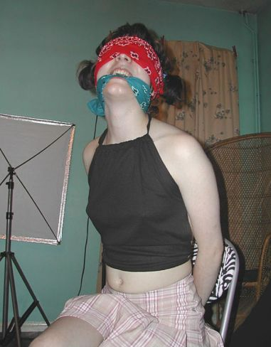 Hot Girlfriend Gets Blindfolded, Gagged and Cuffed for Discipline