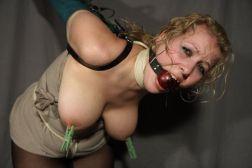 Kinky Blond Slave Gets Bound, Blindfolded and Tortured for Discipline