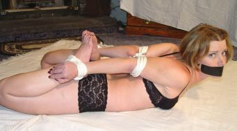 Pretty Girlfriend Gets Tape Gagged and Tightly Bound by Boyfriend