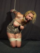 Sexy Amateur Tightly Bound, Ball Gagged and Tortured for Discipline