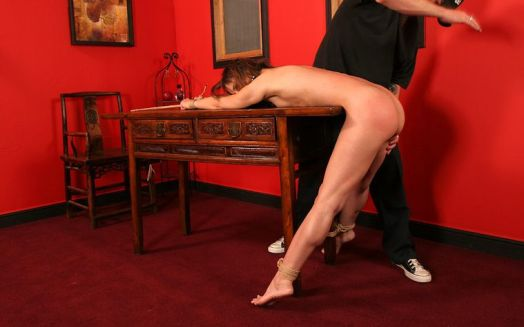 Sexy Young Slave Gets Spanked, Whipped and Tortured for Discipline