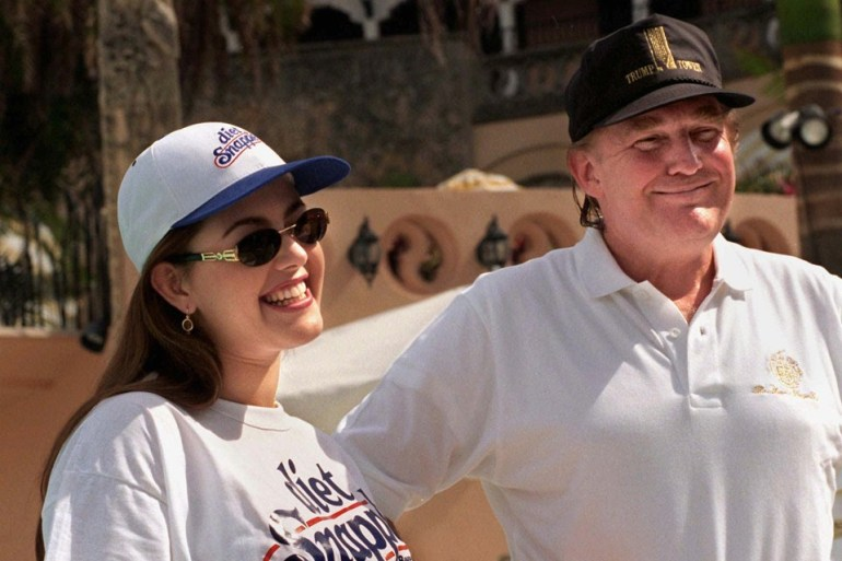 Alicia Machado et Donald Trump.