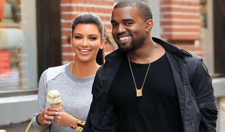 Kim and Kanye West celebrity mixed race couple