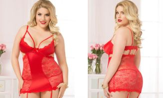 Plus Size Seven Til Midnight a Cut Above Chemise Set