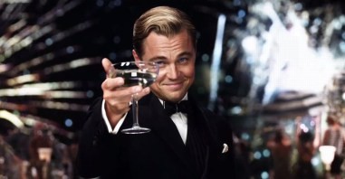 Jay Gatsby screenshot toasting to camera