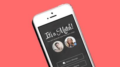 Tinder It's a Match screen