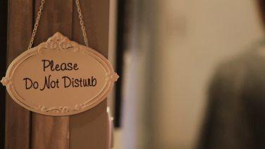 Please do not disturb door sign