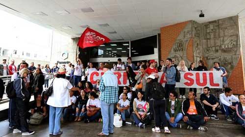Divulgação - Professores protestaram em frente à Secretaria Estadual de Fazenda na última semana
