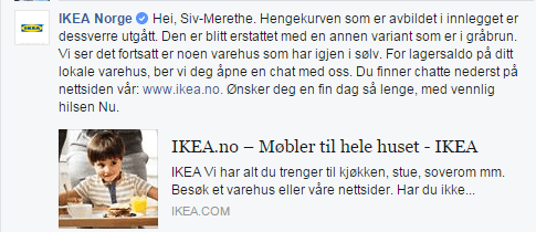 IKEA svar