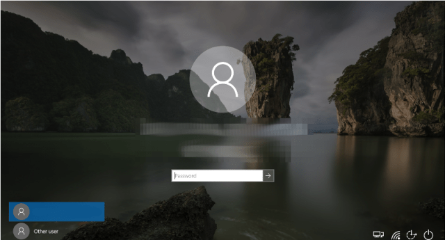 windows 10 lock screen