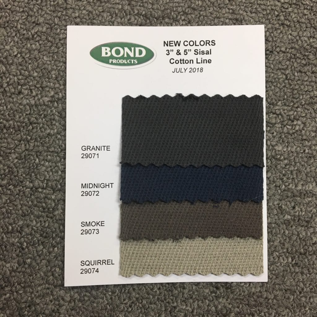 Bond Cotton Sisal Colors Chart Insert