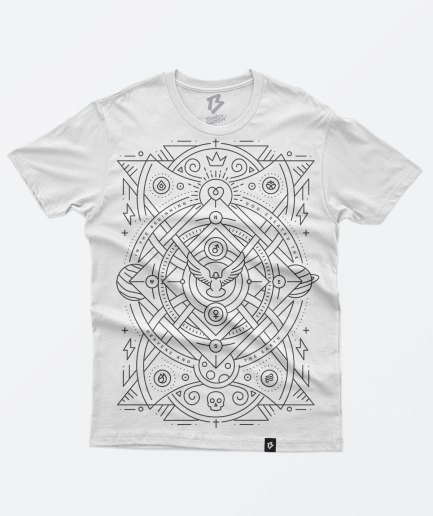 Bones and marrow white cotton t-shirt
