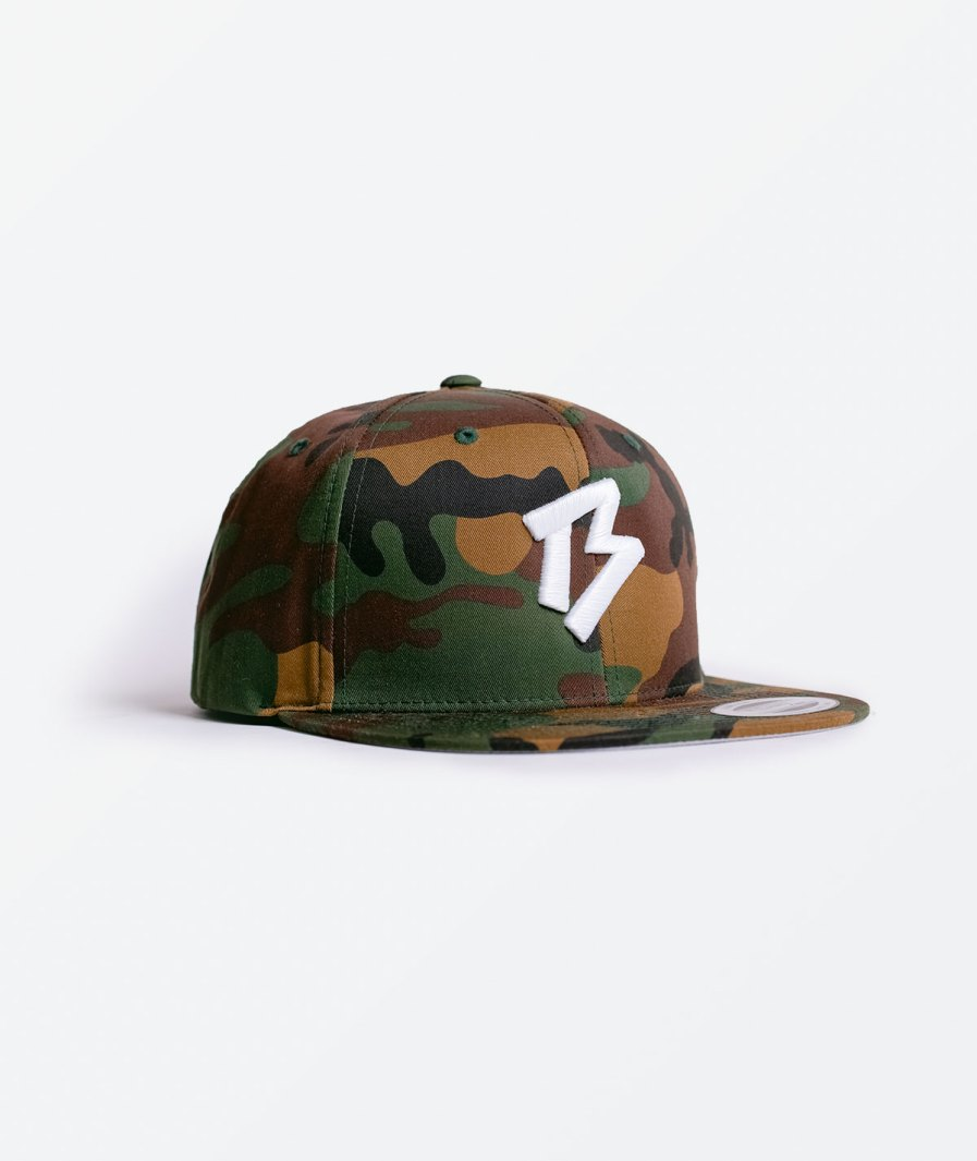 Bones and Marrow Flat Peak camo Cap