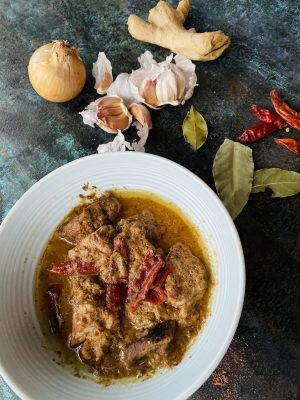 Rajasthani Safed Maas- Lamb cooked in white gravy