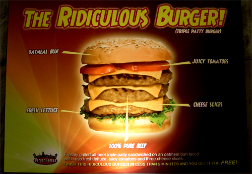 ridiculous burger