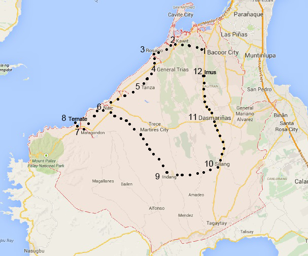 cavite route map