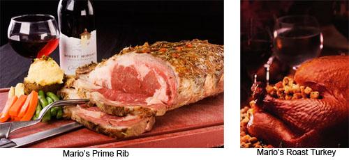 Mario's prime rib and roast turkey