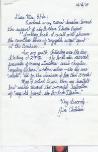 Jim Chatelain Letter