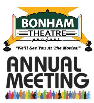 Bonham Theatre Project 2019 Annual Meeting