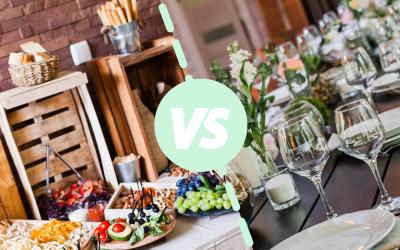 Cocktail Dînatoire ou Repas à table, comment choisir ?