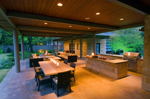 Dallas Outdoor Living Spaces and Hardscapes - Bonick ... on Living Spaces Outdoor Dining id=82535