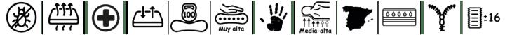 Logos características colchóngeriátrico de Bonitex