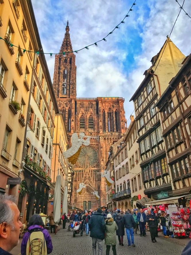 Strasbourg France Notre Dame Cathedral Christmas Markets