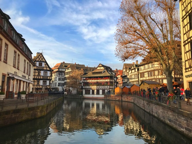 Strasbourg France River Grand ile Christmas Market