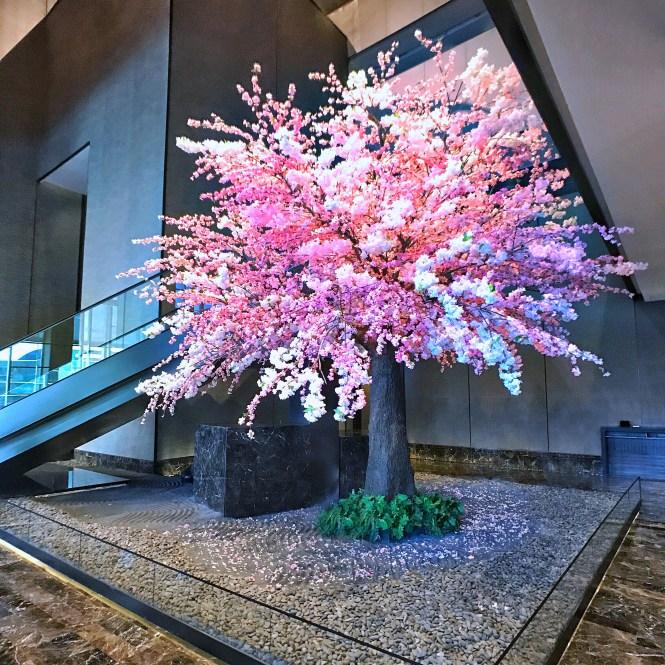 Okura Prestige Bangkok Cherry Blossom Tree Lobby Sakura