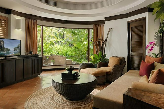 rayavadee deluxe pavilion living room krabi thailand