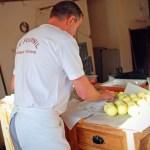 Préparation de tartines pour le four à pain