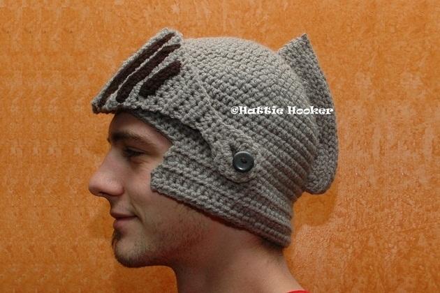 Crocheted Knight Helmet (1)