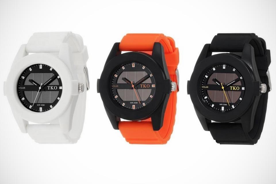 TKO Solar Rubber Watches