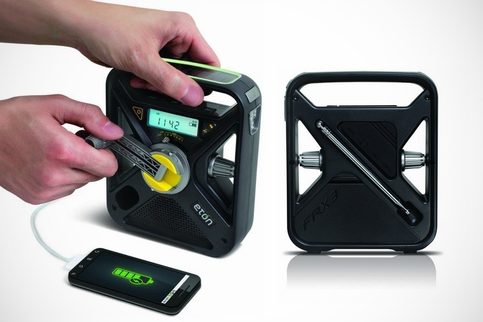 Eton Hand Turbine Weather Alert Radio with Smartphone Charger