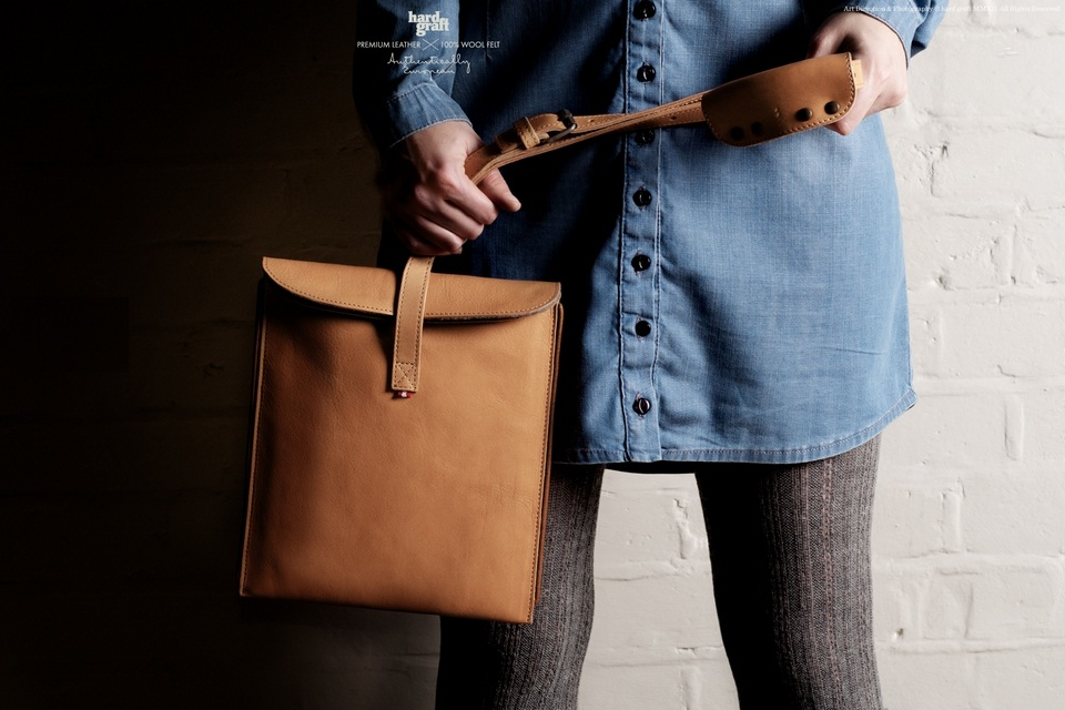 Hard Graft's OldFashioned Leather Bag for iPad