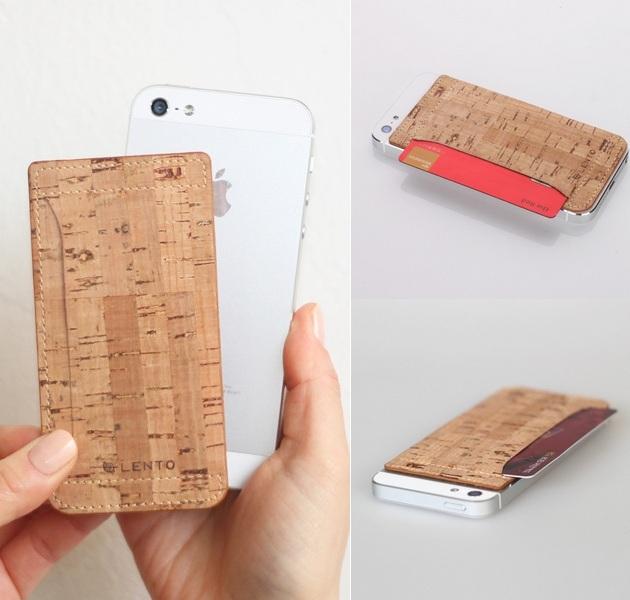 Cork Skin iPhone 5 Card Pocket