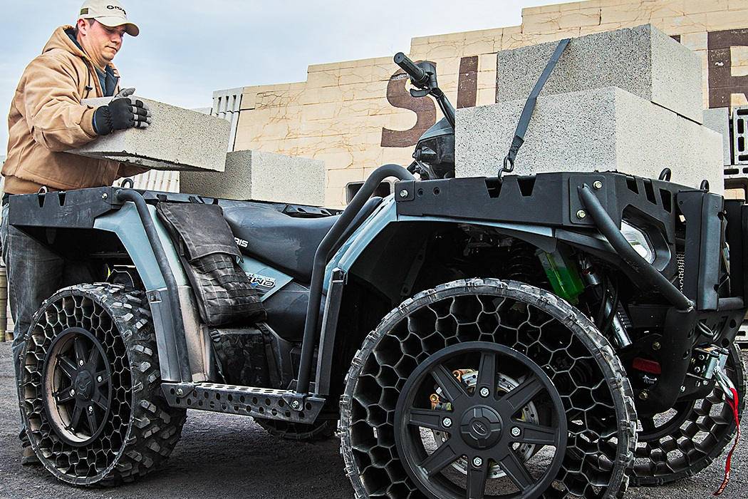 Polaris ATV Airless Tires Machine Hits The Road (1)