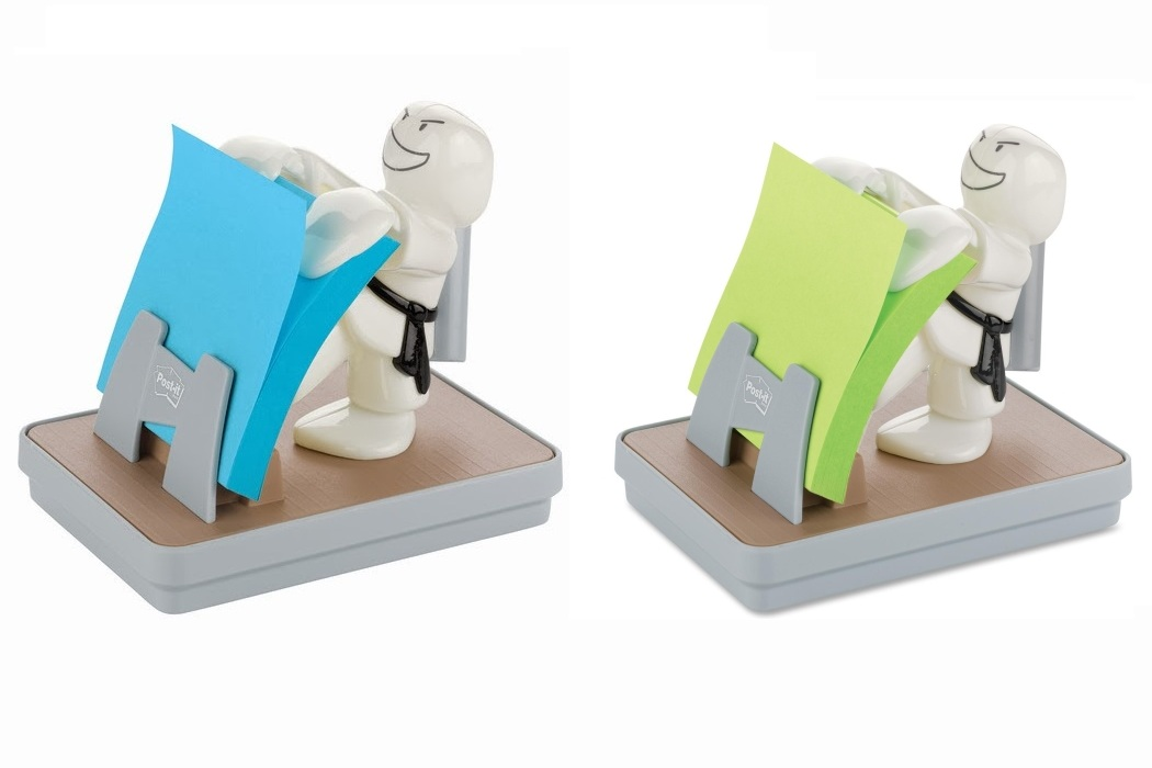 Karate Pop-up Note Dispenser With Pen Holder