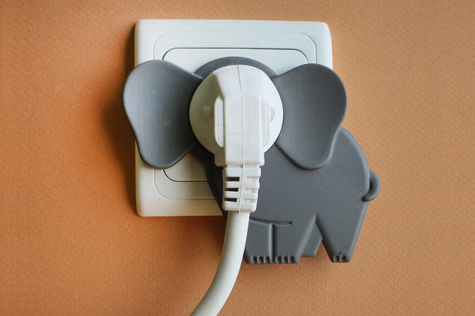 Cute Elephant Wall Plugs
