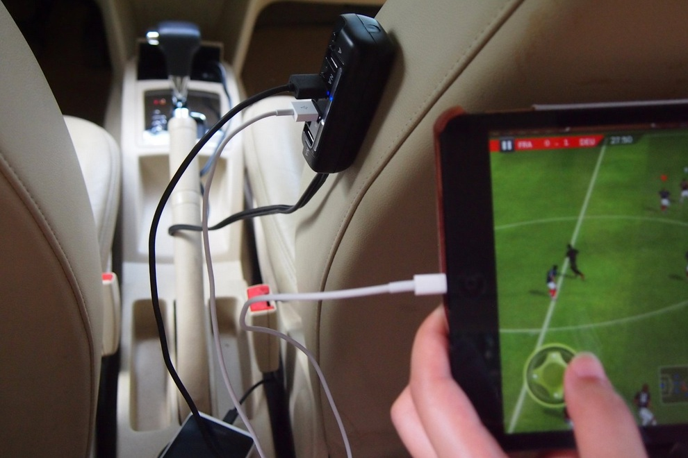 Saicoo 4 USB High Output Ports Car Charger