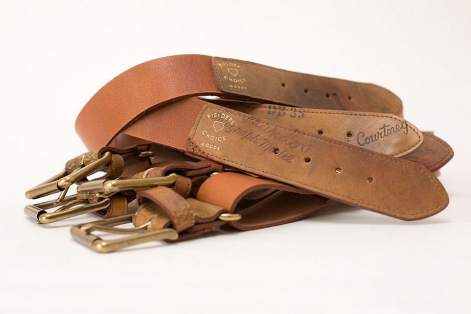 The Mays Baseball Glove Belt
